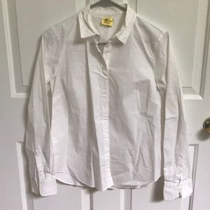 Jcrew White Cotton Button up blouse-worn once